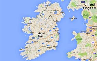 אירלנד מפה